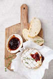 Baked Camembert cheese Stock Photos