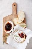 Baked Camembert cheese Stock Photos