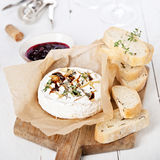 Baked Camembert cheese Royalty Free Stock Photos