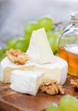 Baked Camembert cheese Royalty Free Stock Images