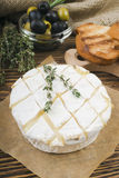 Baked Camembert cheese with rosemary Stock Photo