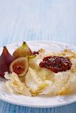 Baked Camembert with Figs Royalty Free Stock Images