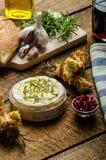 Baked Camembert with Garlic & Rosemary Stock Image