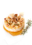Baked Camembert with honey and rosemary Royalty Free Stock Photo