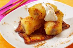Baked caramelized bananas Stock Photo