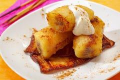 Baked caramelized bananas Stock Photo