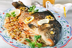 Baked carp Stock Photography