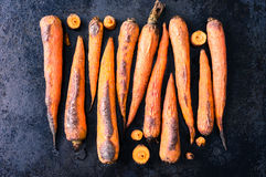 Baked carrots. Baked in the oven on a baking carrot Stock Images