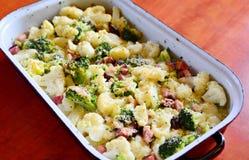 Baked Cauliflower with Broccoli Royalty Free Stock Photo