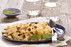 Baked cauliflower with capers and raisins Stock Photo