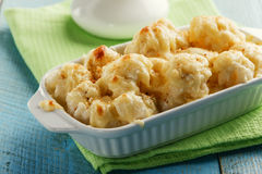 Baked cauliflower with cheese Stock Images