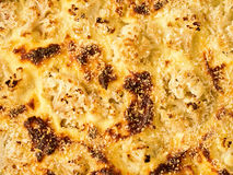 Baked cauliflower cheese food background Royalty Free Stock Photo