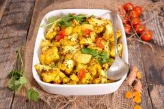 Baked cauliflower Stock Images