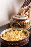 Baked cauliflower in the kitchen Stock Photography