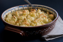 Baked cauliflower with parmesan Royalty Free Stock Photo