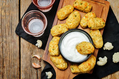 Baked cauliflower Tots Royalty Free Stock Images