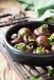 Baked champignons mushrooms Stock Photography