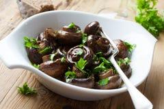 Baked champignons mushrooms Royalty Free Stock Image
