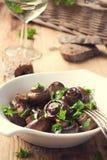 Baked champignons mushrooms Stock Image