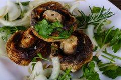 Baked champignons Royalty Free Stock Photo