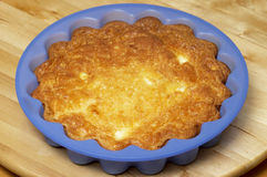 Baked cheese pudding Stock Images