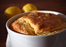 Baked cheese soufflé portion in a ramekin Royalty Free Stock Photography