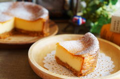 Baked Cheesecake Stock Photography