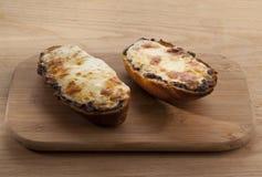 Baked cheesy roll bread Royalty Free Stock Image