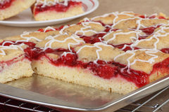 Baked Cherry Cake Royalty Free Stock Images