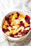 Baked Cherry Cheesecake French Toast Royalty Free Stock Photo