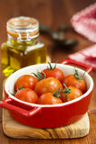 Baked cherry tomatoes Stock Images