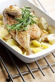 Baked chicken Royalty Free Stock Images