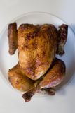 Baked chicken. On plate -close up Stock Images