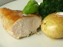 Baked chicken breast Royalty Free Stock Images
