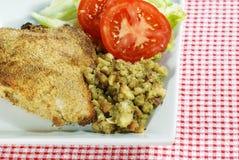 Baked Chicken breast dinner Stock Photos