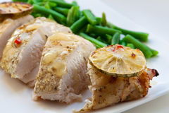 Baked chicken breast Stock Images