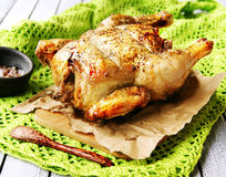 Baked chicken for Christmas Royalty Free Stock Image
