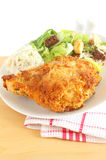 Baked chicken dinner Royalty Free Stock Photo