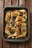 Baked chicken drumstick with vegetable Royalty Free Stock Photo