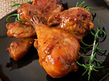 Baked chicken drumsticks Royalty Free Stock Photography