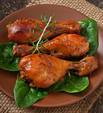 Baked chicken drumsticks Stock Image