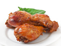 Baked chicken drumsticks Royalty Free Stock Photos