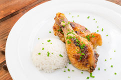Baked chicken drumsticks Stock Photography