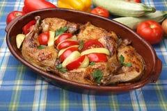 Baked chicken drumsticks Stock Photo