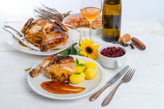 Baked chicken Stock Image