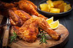 Baked chicken with herbs Royalty Free Stock Image