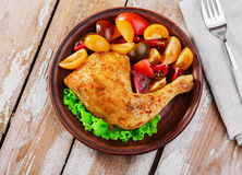 Baked chicken leg Royalty Free Stock Image