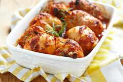 Baked chicken legs Stock Photography