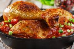 Baked chicken legs Stock Photo