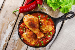 Baked chicken legs Royalty Free Stock Image